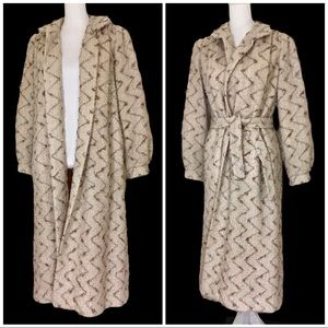 Vintage 70's/80's Mohair Boucle Belted Trench Coat